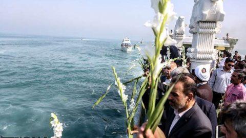 گلباران محل سقوط هواپیمای ایرباس در خلیج فارس