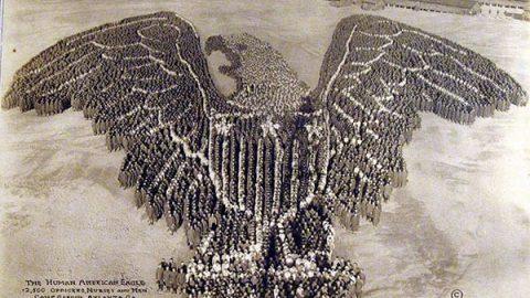 عکس هوایی از نظم ارتشیها در ۱۰۰ سال قبل
