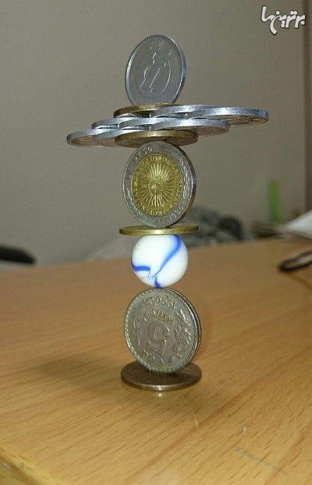 هنرمند ژاپنی متخصص سازههای سکهای ضدگرانش!