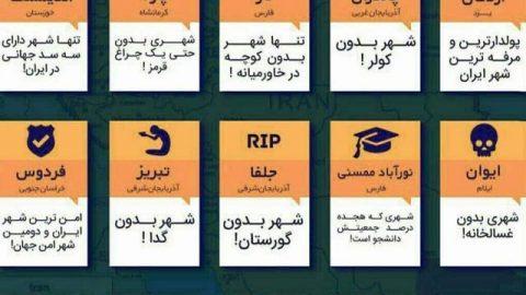 اینفوگرافی؛ عجیبترین شهرهای ایران