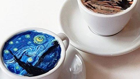 تبدیل فنجانهای قهوه به آثار هنری