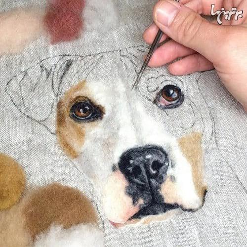 نقاشی با پشم (4)