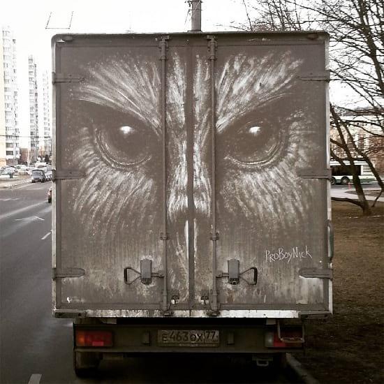 نقاشی روی ماشین (4)