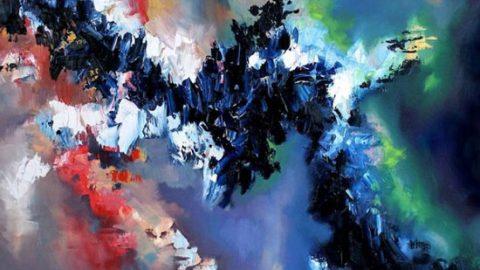 هنرمندی که موسیقی را نقاشی میکند