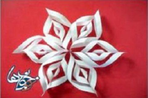 کاردستی دانه برف کاغذی