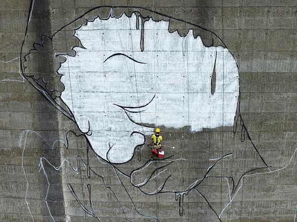 نقاشی بر دیواره سد!