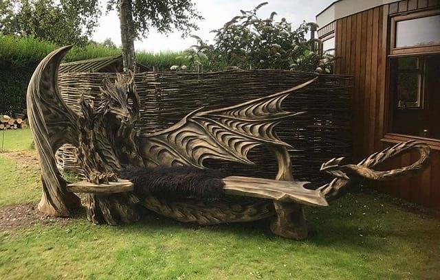 هنرنمایی با کنده درخت (1)