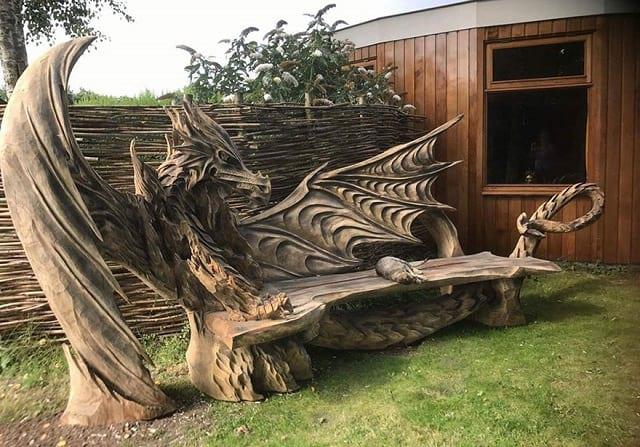 هنرنمایی با کنده درخت (2)