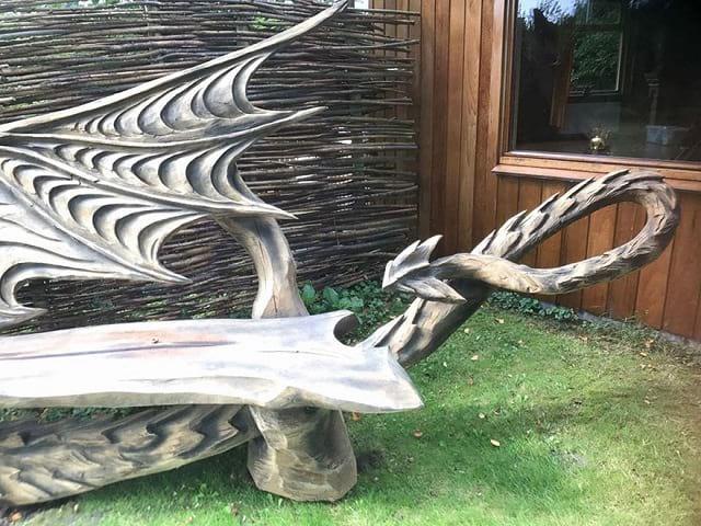 هنرنمایی با کنده درخت (3)