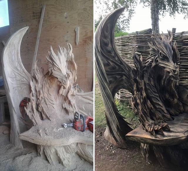 هنرنمایی با کنده درخت (5)