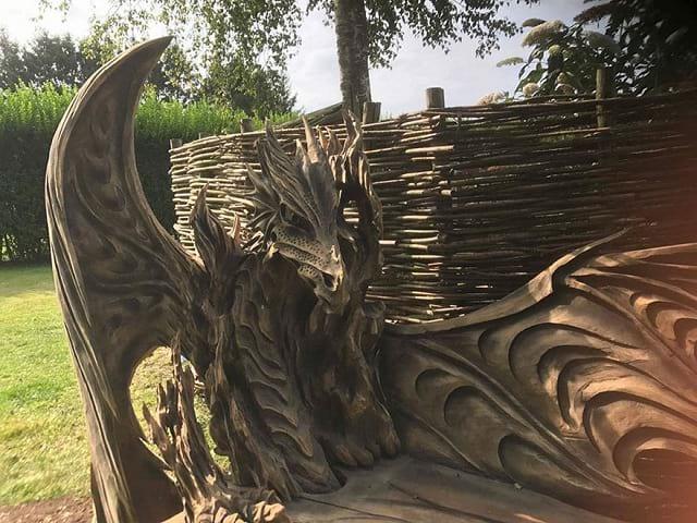 هنرنمایی با کنده درخت (6)