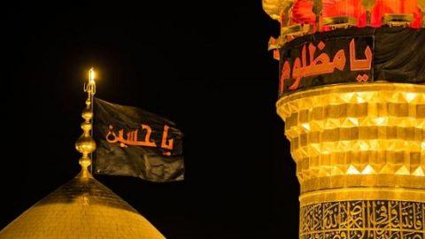 پوشش تعویض پرچم گنبد حرم امام حسین (ع) از شبکه ۳