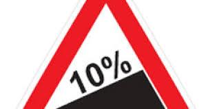شیب سربالایی ده درصد.