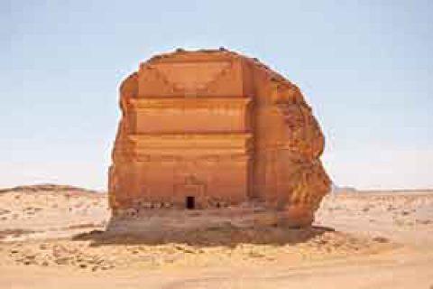 تنها اثر باقی مانده ازشهر مداین صالح ، شهری که به عذاب الهی گرفتار شد