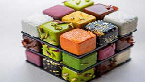 شیرینی هایی به شکل مکعب روبیک