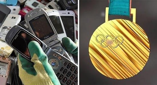 مدال های بازیافتی المپیک 2020