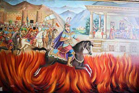جشن چهارشنبه سوری ، نماد گذشتن سیاوش از آتش