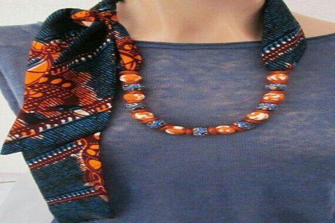 کاردستی رو مانتویی | گردنبند رو مانتویی زیبا