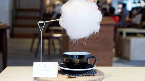 قهوه همرا با پشمک