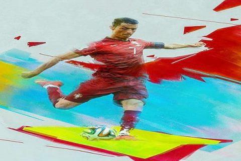 نقاشی دیجیتال خیره کننده از بازیکنان فوتبال