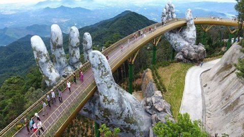 پلی بر فراز دست های غول آسا| پل طلایی ویتنام