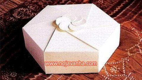 کاردستی جعبه کادویی | آموزش ساخت جعبه کادویی با الگو