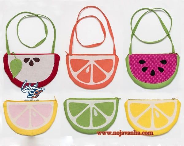 کاردستی کیف میوهای
