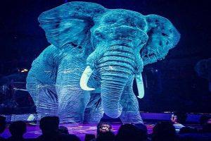سیرک باحیوانات هولوگرامی