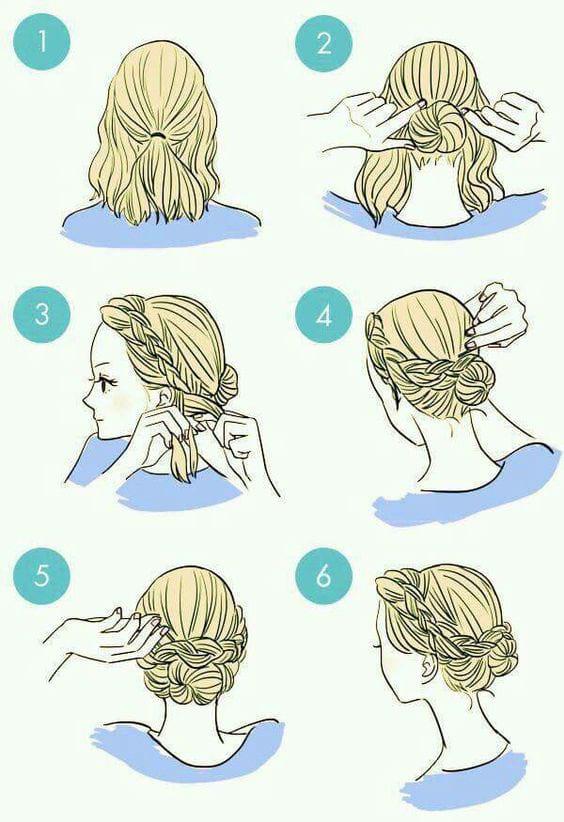 شنیون مو با چند حرکت ساده