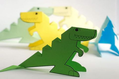 کاردستی دایناسور معاصر | کاردستی با کاغذ رنگی