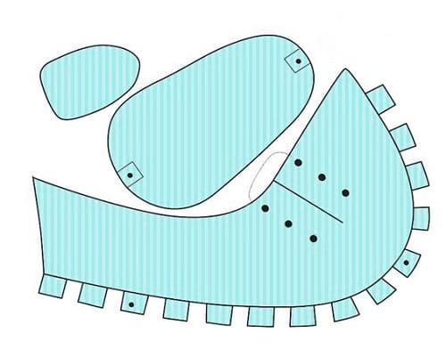الگوی کاردستی کفش