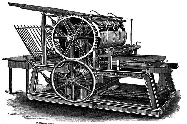 چگونه ماشین چاپ اختراع شد