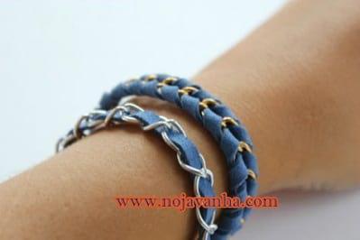 دستبند زنجیر و چرم