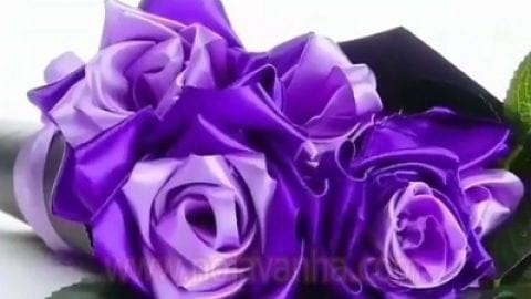 کاردستی دسته گل زیبا