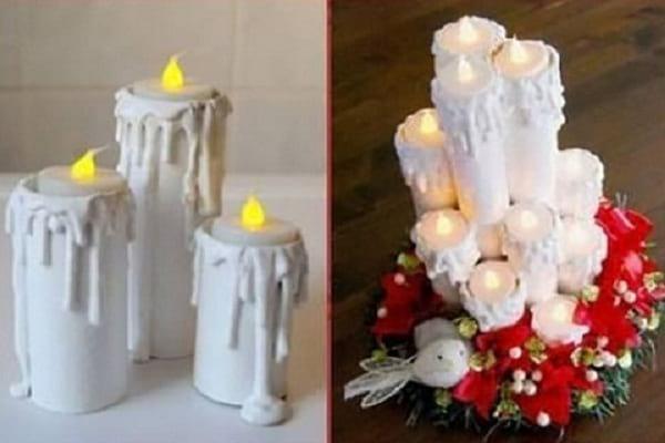 کاردستی شمع های تزئینی