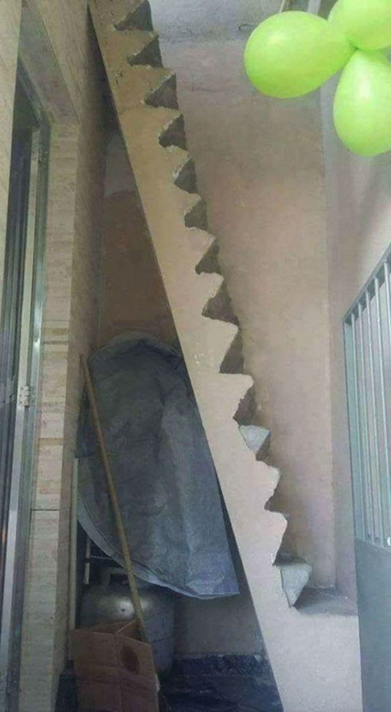 پله ساختمان