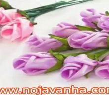 کاردستی ساخت غنچه های گل رز | آموزش گل با روبان