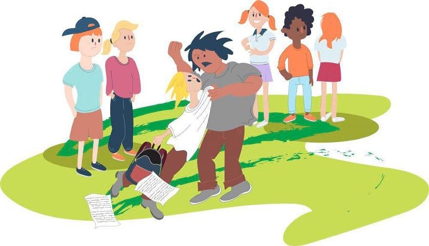 زورگویی و دعوا در مدرسه
