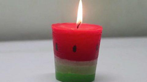 آموزش ساخت شمع هندوانهای برای شب یلدا + ویدئو