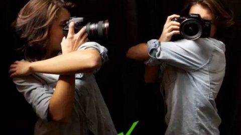 چگونه دوربین را به درستی در دست بگیریم؟