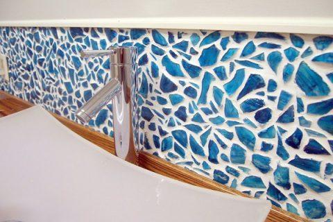 کاردستی دیواری از خرده شیشه