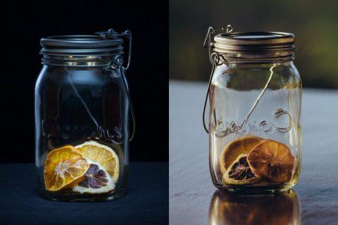 ایده ای خلاق؛ نور در شیشه