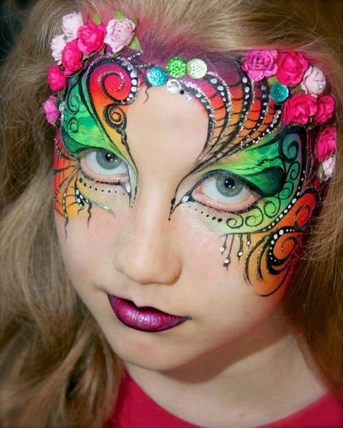 نقاشی پری روی صورت دختر بچه ها