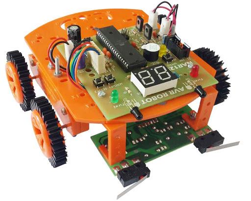 تصویری از یک ربات مسیریاب