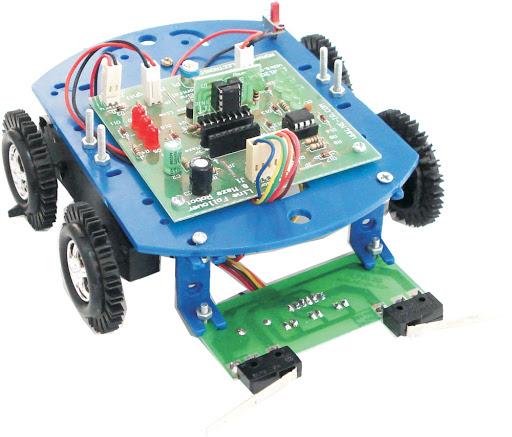 تصویری از مدار درایور موتور ربات
