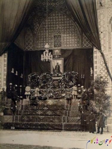 سنگ قبر مرمری ناصرالدین شاه