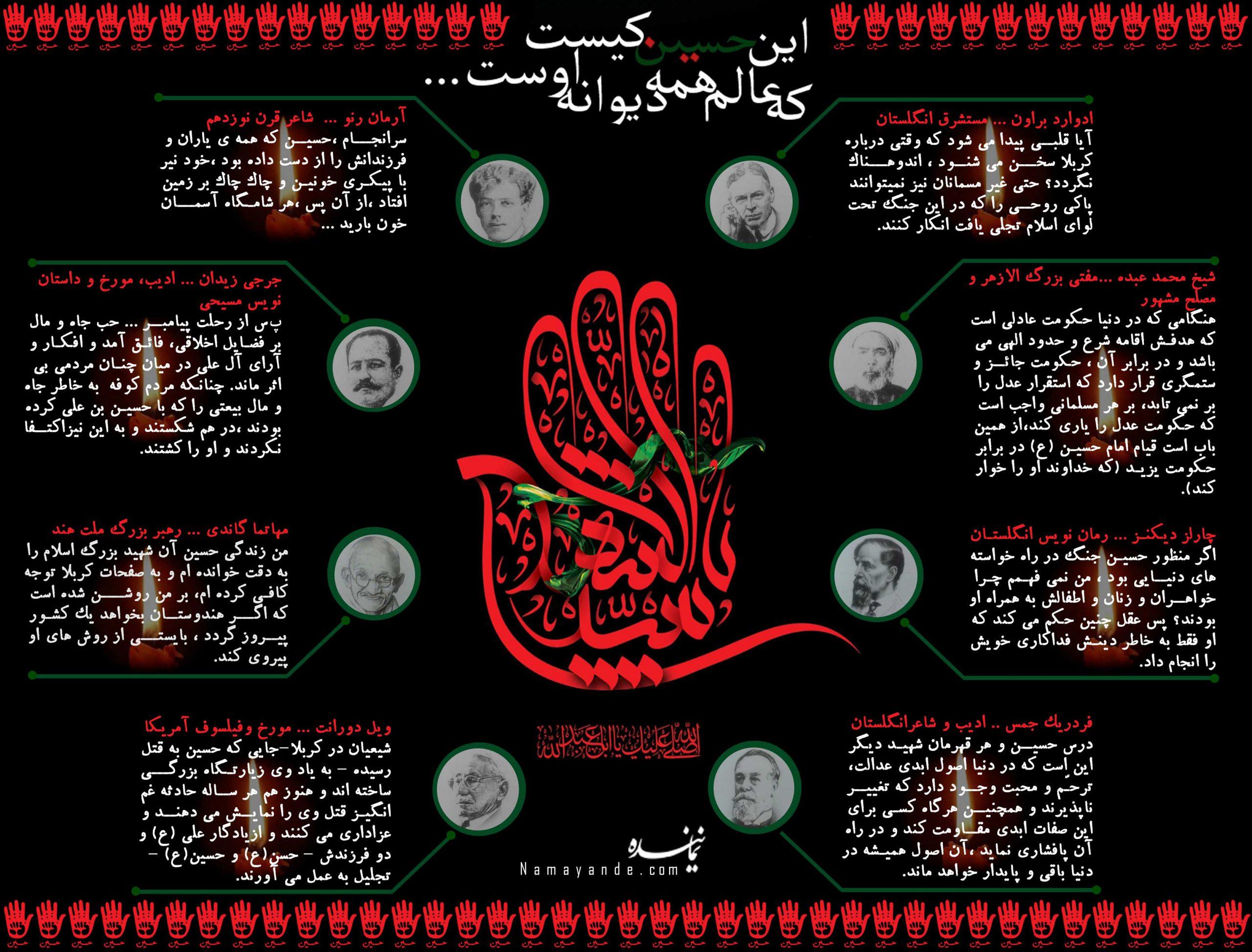 بزرگان معاصر وامام حسین