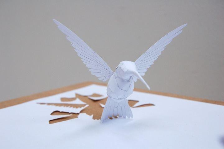 پرنده کاغذ بری