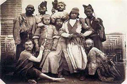 دلقک های قاجاری
