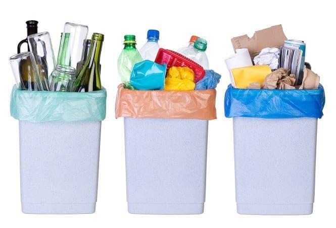 سطلهای تفکیک زباله های تر و خشک